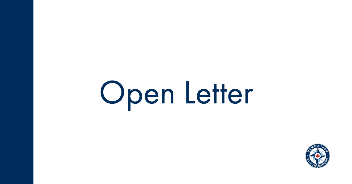 Open Letter, with small Southsiders logo